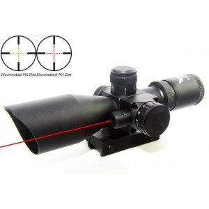 2.5-10x40 Illuminated Red Green Mil-Dot Scope With Red Laser SC-0252