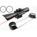 M8 3.5-10x40 Red Green Mil-Dot Scope With Red Laser
