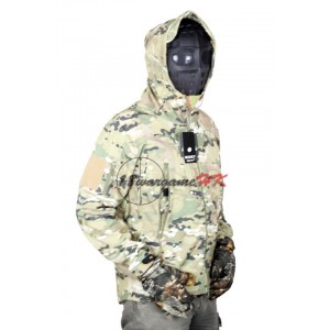 SharkSkin Soft Shell Waterproof Jacket Multi Camo