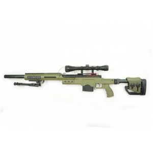 WELL Spring Sniper Rifle with Scope and Bipod (DE) MB4410DG
