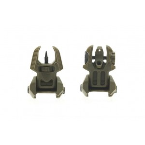 Polymer Pair of Push Up Low Profile Front and Back Sights OD SG-0014C