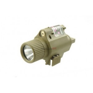 Airsoft M6 Weapon Light and Red Laser for 20mm Rail DE SC-0134B