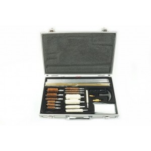 Multi-Size Gun Barrel Cleaning Kit With Aluminum Case TL-0006
